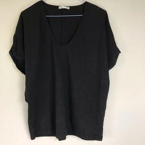 Zara Oversized Black Basic Tee S